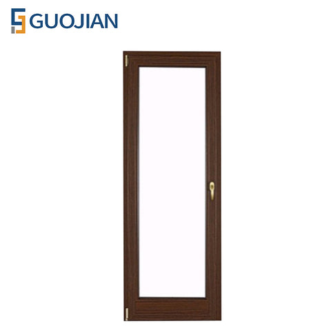 UPVC Bathroom Door Double Glass Swing Casement French UPVC Glass Door on China WDMA