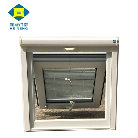 UPVC Double Glass Casement Window With Blinds Inside on China WDMA