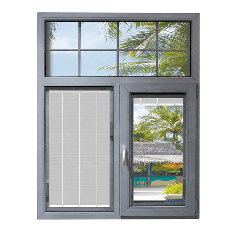 UPVC/ PVC casement window blind inside double glass window on China WDMA