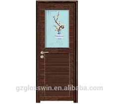 UPVC low price casement door bathroom door and kitchen door on China WDMA