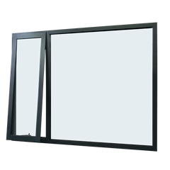 US standard Thermal broken awning window with powder coated with triple glass for energy saving
