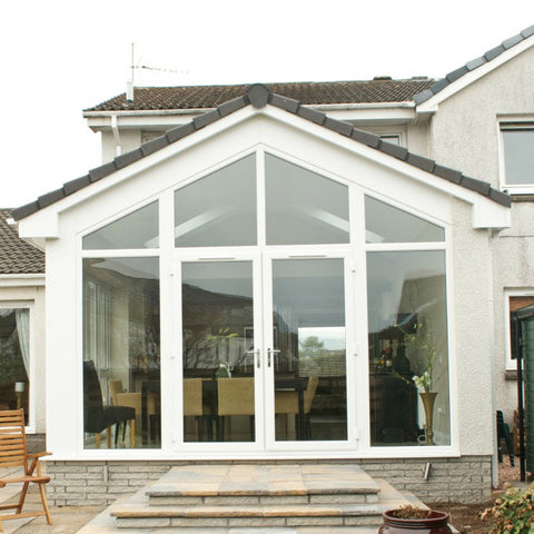 US villa main entry wooden door and aluminum glass door modern design entry doors on China WDMA