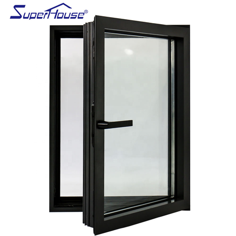 USA CSA standard aluminum system windows popular arched casement window with German hardware on China WDMA