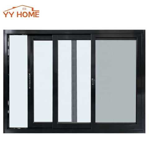 USA Canada Used Double Tempered Glass Aluminum Sliding Slider Windows with Fiberglass Stainless Screen for houses on China WDMA