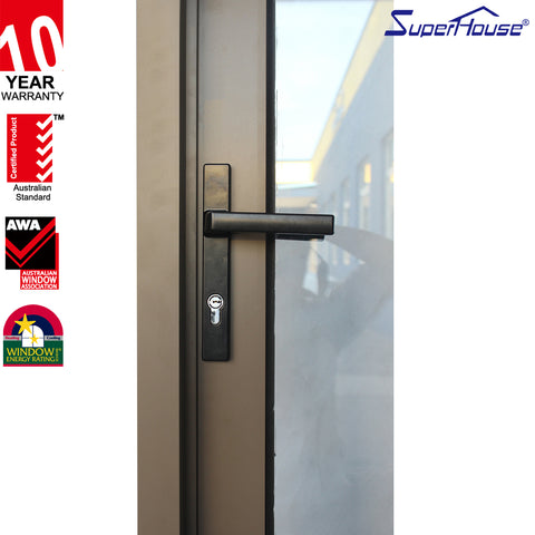 USA Florida Hurricane Impact Doors Windows Airtight Aluminum Interior Casement Glass Doors on China WDMA