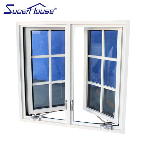 USA popular type crank casement window french window with mosquito net on China WDMA
