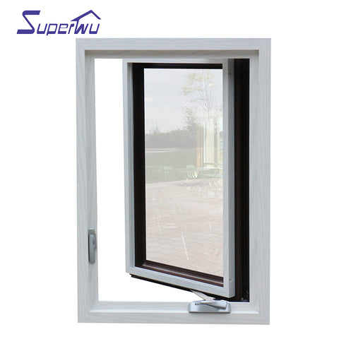 USA standard modern design double color thermal break aluminum glass french window on China WDMA