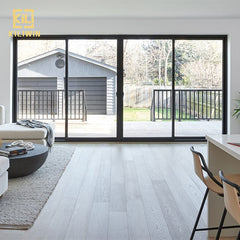 Uganda villa entrance window and door pvdf black aluminum bullet proof 4 panel sliding glass patio doors for interior house on China WDMA