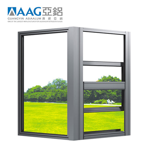 Vertical Aluminium sliding window Single hung windows For Sale on China WDMA
