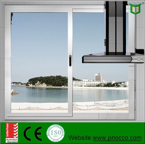 Vertical aluminium sliding window with single/double/triple glazing