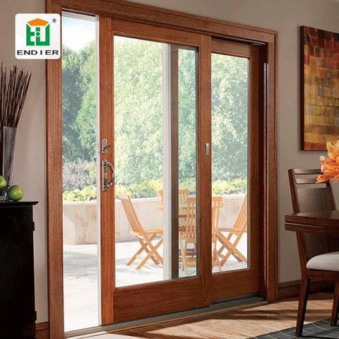 Villa level wood grain aluminum and glass sliding room doors aluminium doors cost fiber sliding panels door for room on China WDMA
