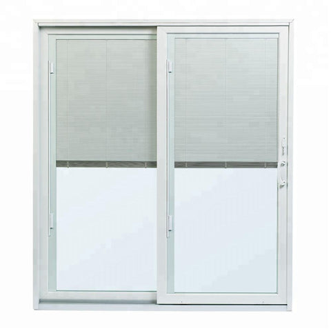 Vinyl sliding glass patio doors with built in blinds on China WDMA