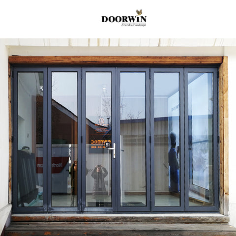 Virginia modern exterior doors bi folding aluminum doors on China WDMA
