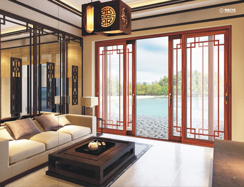 WEIYE Factory wood grain color slide door design high quality and low price on China WDMA