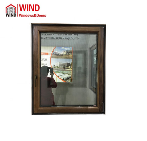WIND double glazed windows with blind inside venetian awning cost windows with frame on China WDMA