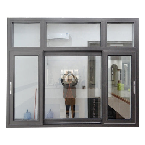 Wanjia made popular design Nice aluminium frame sliding glass window on China WDMA