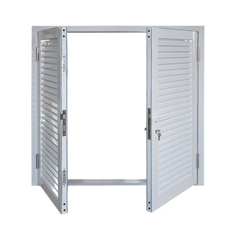 Warehouse prefabricated fixed aluminum louver/aluminum window louver prices/aluminum shutter window on China WDMA