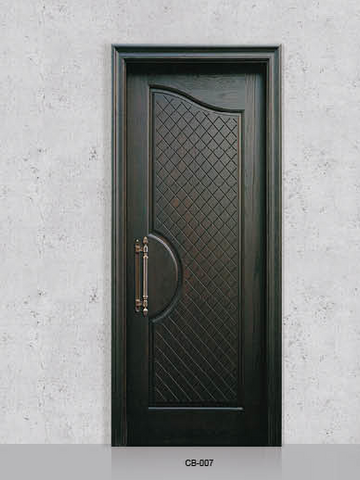 Waterproof Anti Moisture Eco-Friendly Fireproof WPC Interior Decorative Door for Bedroom/Bathroom on China WDMA