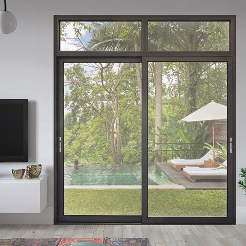 Waterproof aluminum sliding glass bedroom doors on China WDMA