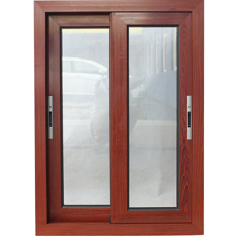 Weather resistant aluminium wooden powder coated small sliding windows on China WDMA