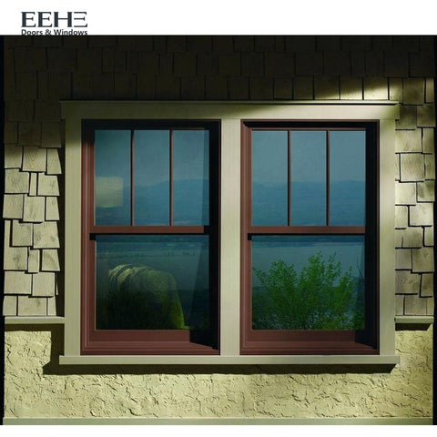 White Aluminium Frame Glass Single Hung Windows on China WDMA