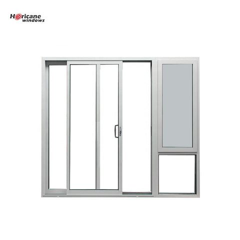 White Aluminum Sliding Door With Awning Window on China WDMA