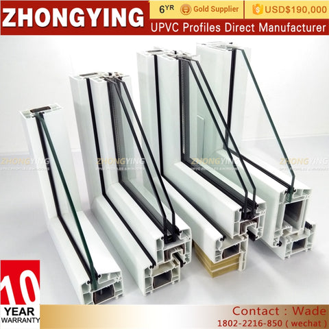 White Clear Slider 60-80mm Pvc And Cheapest Price Thermal Break Openable Steel Cheap Roof Soundproof Upvc Small Window Profile on China WDMA