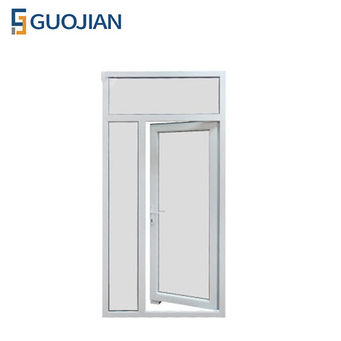 White Color Double Casement Sash Opening French PVC Door on China WDMA
