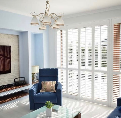 White Decorative Plastic Shutters and House Dining Room Wood Louver Window Shutter on China WDMA