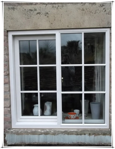 White Frame 3 panes aluminum sliding window with grill on China WDMA