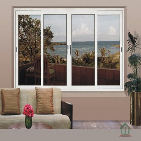 White aluminum sliding window with 4 panels on China WDMA