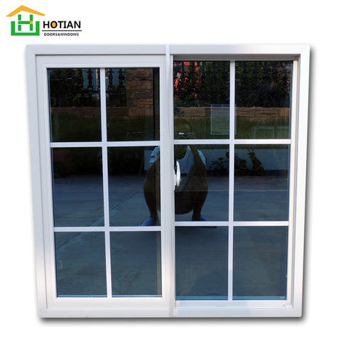 White color PVC frame impact low e glass windows sliding window grills design pictures on China WDMA