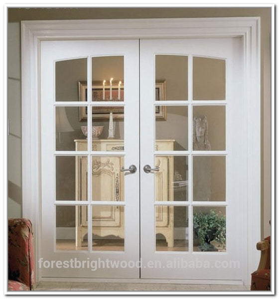 White color interior wood double french doors on China WDMA on China WDMA