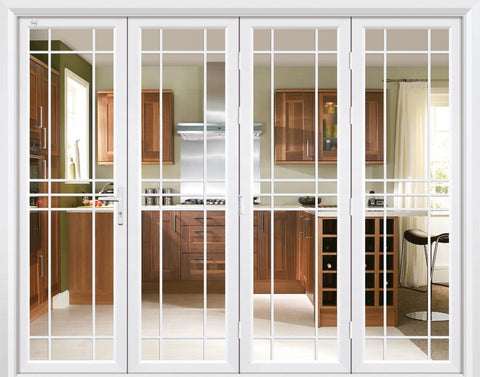 White thermal break double glass aluminium exterior patio folding doors on China WDMA