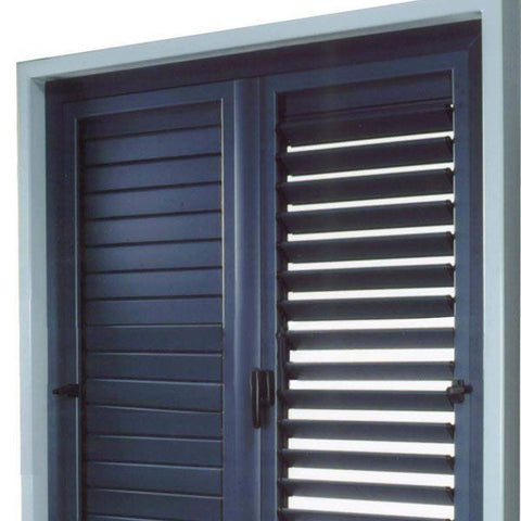White ventilation glass aluminum alloy louvers casement Windows and doors on China WDMA