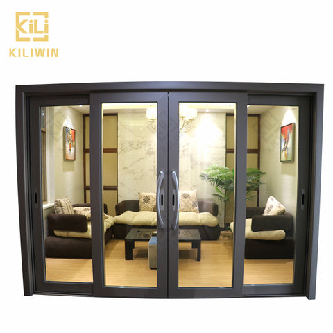 Wholesale 4 panel sliding patio entrance doors residential exterior styles bullet proof glass safety door for ghana on China WDMA