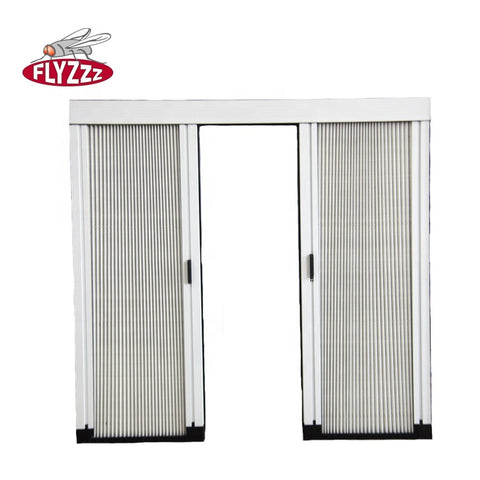 Wholesale aluminum security mesh screen door retractable mesh plisse insect screen door on China WDMA