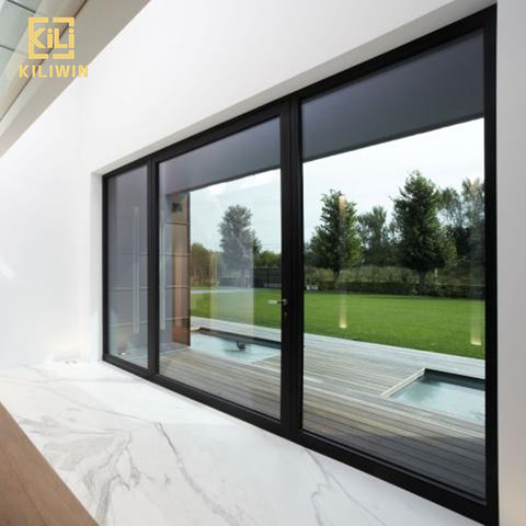 Wholesale australia standard inward opening waterproof heat insulated double glazed black aluminum french casement window on China WDMA