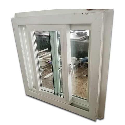 Wholesale cheap house bullet proof glass sliding plastic window with screen and grill on China WDMA