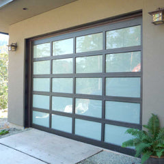 Wholesale custom size tempered glass diy retractable aluminium garage rolling sliding screen door on China WDMA