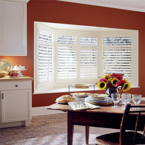 Wholesale half price china blinds factory custom outdoor pvc window plantation shutters on China WDMA