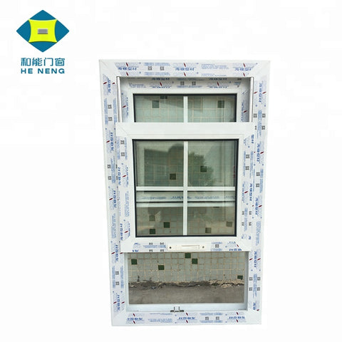 Wholesales Popular Style Grill Cheap Window PVC Vinyl Single Hung Windows on China WDMA