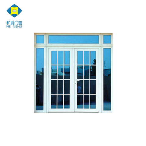 Wholesales UPVC Profile House Sliding Glass Double Door Grill Design on China WDMA