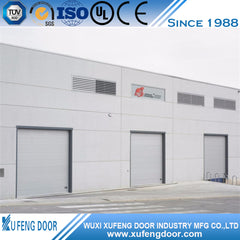 Wide Industrial French Sectional Door With Finger Protection on China WDMA