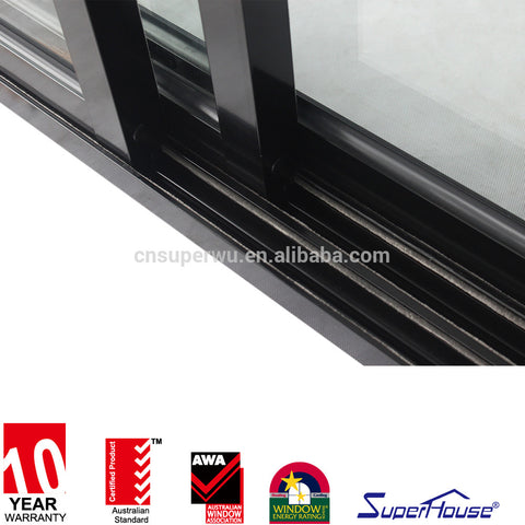 Wind powder 3 track glass aluminum sliding door used in home on China WDMA