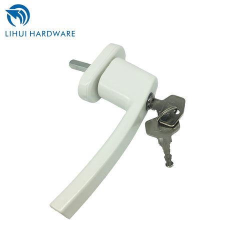 Window Crank Handles Aluminium Lockable Replacement Handle For Casement Windows With 35mm Spindle Length Lock Key on China WDMA