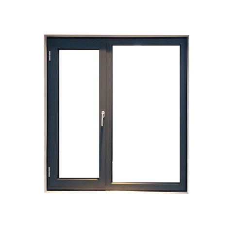 Window winder casement aluminum steel frame black casement window with tint glass on China WDMA