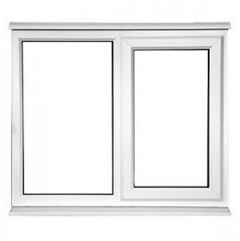 Windows and doors manufacturer triple glazed cheap french style upvc /pvc fixed glass windows on China WDMA