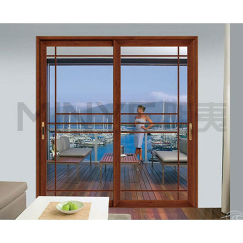 Wood Aluminum Sliding Glass Door Rail on China WDMA
