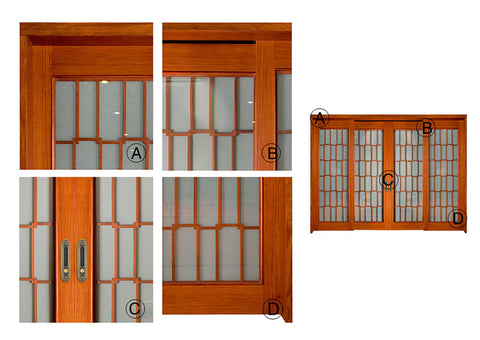 Wood Frame 4 Panel Sliding Glass Patio Doors Sliding Interior French Doors Best French Patio Doors on China WDMA
